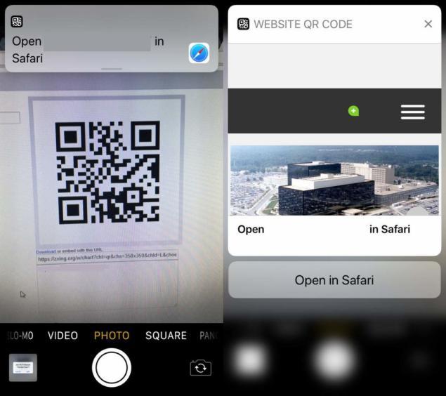 codigo QR con la camara en iOS 11