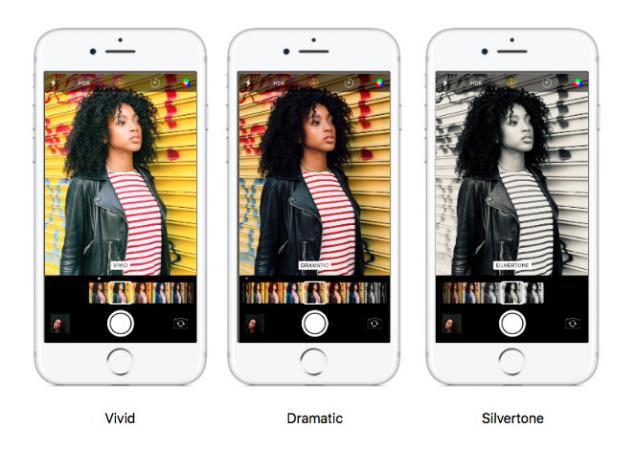 filtros en camara de fotos con iOS 11