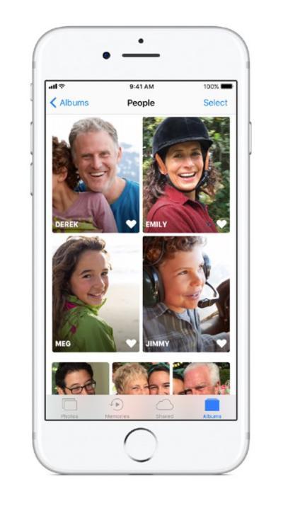 identificar personas en iOS 11