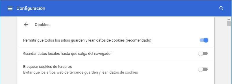 activar cookies