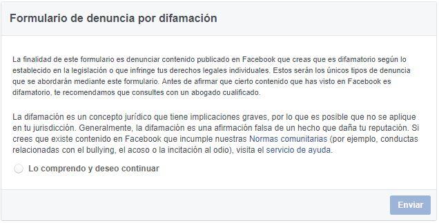 Formularios de Facebook combatir bullying