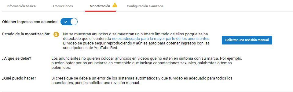 Creadores de YouTube con problemas de monetizacion