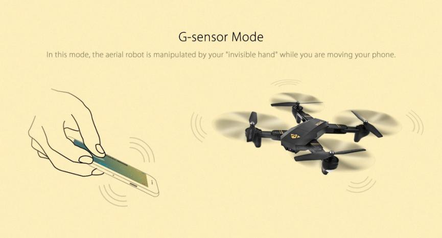drone barato TIANQU XS809W control de mandos