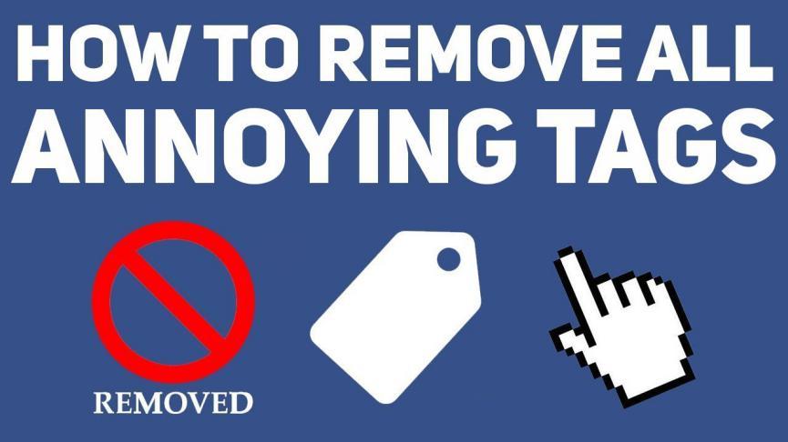 eliminar las Etiquetas de Facebook