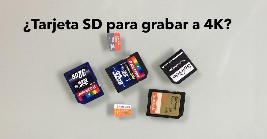 tarjeta microSD para grabar video 4k